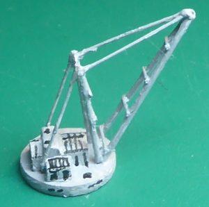 Birkenhead Docks model 1:1200 scale – Crane construction – singlish
